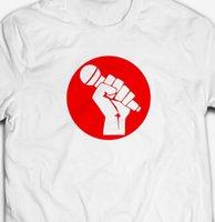 canlı yayın toptan satış-ŞARKıCı YÜKSELTMEK PROTEST CANLı HıZLı VOCALS MÜZIK BANDı% 100% pamuk Erkek T-shirt Tee
