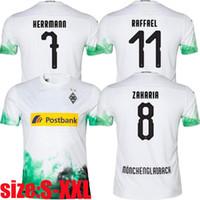 uniformes de futbol gratis al por mayor-Tailandia camiseta de fútbol Gladbach 19 20 BORUSSIA GLADBACH PLEA STINDL PELIGRO ZAKARIA camisetas de fútbol uniformes para hombre envío gratis