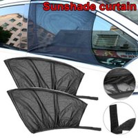 Wholesale mesh window covers resale online - Car Window Sunshade Cover Slip On Window Shades Car UV Protection Curtain Sunshade Nylon Mesh Cover a10