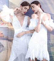 Wholesale printed body dresses for sale - 2019 Mini Dress Sexy Celedrity Backless Elegant Short Lace Print Women Slash Neck Night Club Body con Party Dresses