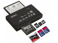 mmc cf sd reader venda por atacado-All In One Cartão de Memória Mini Leitor USB 2.0 multi em 1 Universal External SD SDHC Mini Micro M2 MMC XD CF MS 2019