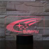 ingrosso loghi subaru-Logo Subaru 3D della lampada LED Optical Illusion luce del regalo pannello della decorazione della batteria Bin DC 5V USB alimentato all'ingrosso della fabbrica