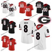 Wholesale Customize Georgia Bulldogs A J Green College Football Jerseys Black Red A J Green Stitched Football Shirts S XXXL