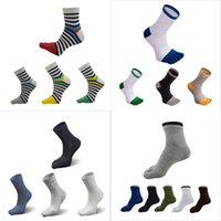 пальцевые носки для мужчин оптовых-2018 Fashion Men Five Finger Toe Separate Socks Cotton Breathable Toe Socks Five Fingers Separate Casual With Toes