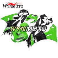 kawasaki için motosiklet parçaları toptan satış-ZX6R 09-11 Kawasaki Için Tam Kaplama Kiti ZX-6R Ninja 2009 2010 2011 ZX-6R 09 10 11 Enjeksiyon ABS Plastik Motosiklet Yeşil Siyah Kaputlar Yeni