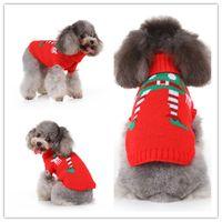 sudaderas extra grandes para perros al por mayor-suéter clásico programa de payaso rojo para la Navidad preciosos perros ropa para perros sudadera de invierno para mascotas perros Navidad viste el suéter para el invierno