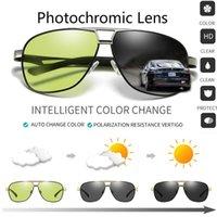 tag nacht sonnenbrille großhandel-Allwetter-Sonnenbrillen Männer polarisierte Chamäleon-Brille quadratische Sonnenbrille Tag Nachtsicht ändern schwarz Driving Eyewear