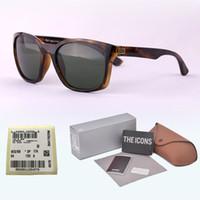 Wholesale vintage goggles glasses online - Top quality Glass lens Brand designer sunglasses men women Plank frame Metal hinge Sport Vintage sun glasses With free Retail box and label
