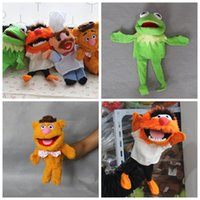Wholesale puppet online - Kermit The Frog Puppet Fozzie Bear Muppet Plush Interaction Toys Multiple Styles Lovely Kids Popular js F1