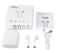 kablosuz bluetooth toptan satış-I7s TWS Bluetooth Kulaklık Kablosuz kulaklık Spor kulaklıklar mikrofon kulaklık Ile Cep telefonu iPhone Samsung Huawei LG için