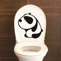 ingrosso adesivi da bagno-Sorriso divertente Adesivi murali bagno Decorazione della casa WC Stickers murali impermeabili per adesivo toilette Poster decorativo Home Decor
