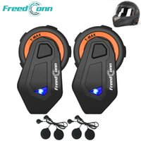 Wholesale helmet original for sale - Group buy 2pcs FreedConn Original T MAX Helmet Headset m riders Talking FM Radio Bluetooth Intercom Intercomunicador Moto