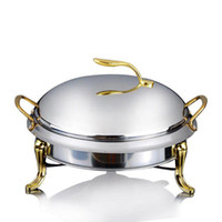 sıcak alkol toptan satış-Paslanmaz çelik alkol soba ev / ticari küçük reşo çanak katı yakıt kazanları küçük kuru sıcak pot elma pot 20/24 cm