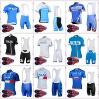 Wholesale italy cycling jersey for sale - Group buy ITALY team Cycling Jersey Short Sleeves Quick drying cycling clothing Summer mens Bike Breathable bib shorts sets Q82205