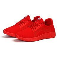 ingrosso cunei neri rossi per le scarpe da ginnastica-2018 Primavera e l'estate Zeppe firmate Rosso Nero Piattaforma Sneakers Scarpe da donna Casual Air Mesh Scarpe da donna Donna