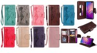 Wholesale case flip girl online – custom For Huawei P30 Pro Honor Lite Galaxy S10 Plus S10e Multifunction Mirror Leather Wallet Cases ID Card Sexy Girl Flip Cover Flower