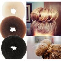 kafa bandı saç giysisi toptan satış-Yeni Büyük Saç Bun Prenses Donuts Köfte Şapkalar Saç Aksesuarları Bandı HairWear Saç şekillendirici aracı