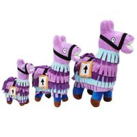 kinderspielzeug großhandel-Hotsale Festung Verkauf Spiel Llama Action Figure Toy Collection für Kinder Infant Weichem Plüsch Gefüllte Cartoon Figur Spielzeug für Kinder Geschenke