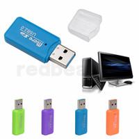 mini lector de tarjetas de memoria al por mayor-Lector de tarjetas de memoria de alta velocidad Mini USB 2.0 Micro SD TF T-Flash Adaptador de lector de tarjetas de memoria ENVÍO GRATIS