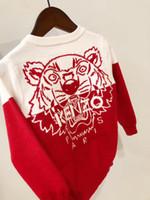hand stricken baby pullover großhandel-Neue Ankunft Herbst Winter Baumwolle Pullover Top Baby Kinderkleidung Jungen Mädchen Strickjacke Kinder Frühling tragen