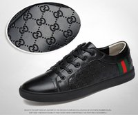 kore ayakkabı satışı toptan satış-Sıcak satış 2019 ilkbahar ve yaz erkek spor ayakkabı Kore deri beyaz ayakkabı nefes deri erkek rahat ayakkabılar gelgit G021