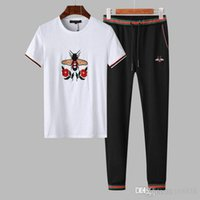 terno animal coreano venda por atacado-Ocasional dos homens de verão V gola esportiva terno bonito Coreano moda calções de manga curta correndo duas peças de roupas # 1025