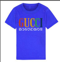 roupas zebra para crianças garoto venda por atacado-2019 Novo Designer de luxo Crianças Camisas marca 1-9 anos de idade meninos meninas T-shirts r camisa Tops de algodão crianças Tees crianças Roupas 2 cores BNOFGR