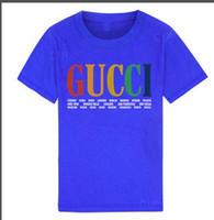 çocuklar için zebra kıyafetleri toptan satış-2019 Yeni Lüks tasarımcı Çocuk Gömlek marka 1-9 yaşında erkek kız T-Shirt r gömlek pamuk çocuk Tees Tops çocuklar Giyim 2 renkler BNOFGR