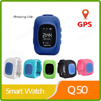 Wholesale gprs remote control resale online - HOT Q50 Smart watch Children Kid Wristwatch GSM GPRS GPS Locator Tracker Anti Lost Smartwatch Child Guard for iOS Android