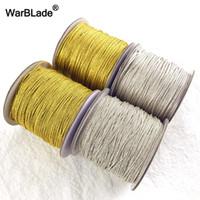 cuerda trenzada de plástico al por mayor-al por mayor de alta calidad 88m 0.8mm 1mm la plata del oro del cordón cuerda de nylon plástico Hebra Cuerda fabricación de collares de bricolaje pulsera del anillo trenzado