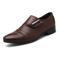 ingrosso pattini di vestito da uomo di grandi dimensioni-Brand New Men's Dress Shoes Size 38-48 Black Classic Point Toe Oxfords per uomo Moda Mens Business Party Shoes grandi dimensioni