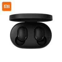 fones de ouvido de apple mic original venda por atacado-Original Xiaomi Redmi Airds TWS fone de Ouvido Estéreo Bluetooth MI AirDots Sem Fio Bluetooth 5.0 Fone de Ouvido de Controle de Toque Mic Earbuds PK airpods