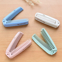 Wholesale easy hairs for sale - Group buy NEW Simple Portable Wheat Comb Easy To Carry Makeup Hairdressing Combs Home Long Hair Anti static Close Tooth R0561