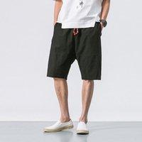 Wholesale chinese boards resale online - Mrdonoo Summer Chinese Style Men Loose Linen Shorts Knee Length Short Trousers Male Bermuda Casual Board Shorts B375 k64 SH190825