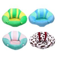 bebek sandalyeleri toptan satış-Mobilya Koltukları Destek Drop Shipping Kanepe Bebek Yumuşak Koltuk Kanepe Bebek Mama Sandalyesi Emniyet Seyahat Araba Koltuğu Yastık