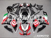 carenados violeta al por mayor-Nueva motocicleta ABS Carenado para Aprilia RS4 50/125 2011 2012 2013 2015 2015 RS4 50/125 1112 13 15 Inyección Bodywor Blanco Rojo QV