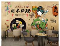 Wholesale 3d paintings free wallpaper resale online - Custom wall papers home decor formaldehyde free personalized decorative painting papel de parede d wallpaper sushi restaurant background