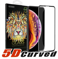 Wholesale 5D Curved Full Cover Tempered Glass Screen ProtectorFor NEW Iphone XR XS MAX Full Cover Film D Edge Screen Protector For Iphone Plus