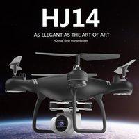 hd 3d mini kamera toptan satış-HJ14W 2.0MP HD Kamera Wifi FPV Uzaktan Kumanda RC Drone Uçak 3D çevirir Selfie Quadcopter Gerçek zamanlı fotoğraflar videolar 100-120 M SıCAK