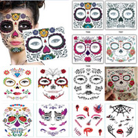 Wholesale party eyes tattoo stickers resale online - Disposable Eyeshadow Sticker Magic Eye Beauty Face Waterproof Temporary Tattoo Sticker For Makeup Stage Halloween Party Supplies HH9