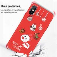 sankt weihnachten silikon fall großhandel-YunRT TPU Phone Cases für iPhone XS Max XR 7 Plus Hülle Weihnachtsmann Weihnachten Silikon Hülle für iPhone 7 7 Plus 6 6S 8 Plus X XS Cases