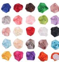 ingrosso fascia rossa diy-Accessori 20PCS Rose Bud Fiore di capelli di modo mini fiore della rosetta accessori fai da te Buds invito Fiori per fascia