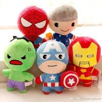 muhteşem peluş figürler toptan satış-Kaptan Amerika Dolması Hayvanlar Doll Avengers Superman Spiderman Batman Peluş Oyuncaklar Kolye Marvel Heros Action Figure Çocuklar Hediyeler 399