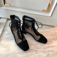 Wholesale shoes for short women resale online - Ankle Boots For Women Platform Zipper Shoes Short Boot Casual Ladies Footwear Roman Boots With Mesh Tie