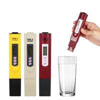 medidor de agua al por mayor-Probador de pH Portátil LCD digital Prueba de la calidad del agua Pluma Filtro TDS Medidor Probador 50 unids
