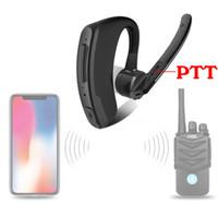 walkie hyt al por mayor-Walkie Talkie Auricular inalámbrico Walkie Talkie Auricular Bluetooth Radio de dos vías Auricular inalámbrico para Motorola Baofeng HYT