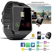 nouveau podomètre de montre achat en gros de-2019 Nouveau Dz09 Montre Smart Watch Hommes Podomètre Bluetooth Appel Téléphonique Sim Tf Avec Appareils Photo Pour Hommes Appareils Sport Smartwatch Pour Ios Iphone Y19052103