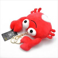 Wholesale key ring free anime resale online - New Stuffed Animals Plush Toys Scented Big Crabs Plush Toy Backpack Keys Ring Pendant Children s Gift Plush Doll DHL Free