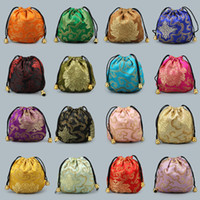 bolsa ecológica china al por mayor-Bolsillo con cordón de estilo chino 16 colores Mini joyería Bolsas de embalaje Bolsa de regalo Fit Small Things Venta caliente 0 85kl E1