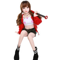 Wholesale silicone love dolls for sex resale online - Fashion cm Real Silicone Sex Dolls Robot Japanese Anime Full Oral Love Doll Realistic Adult for Men Toys Big Breast Sexy Mini Vagina